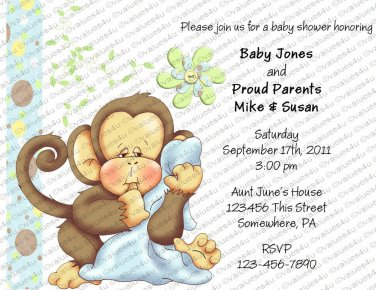 Personalized Baby Shower Invitations (babyboy1035)