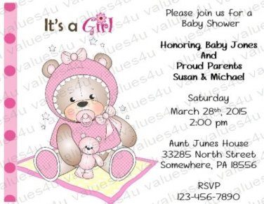 Personalized Baby Shower Invitations (babygirl2231)