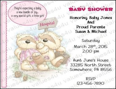 Personalized Baby Shower Invitations (babygirl2241)
