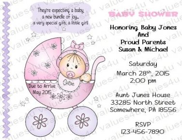 Personalized Baby Shower Invitations (babygirl2234)