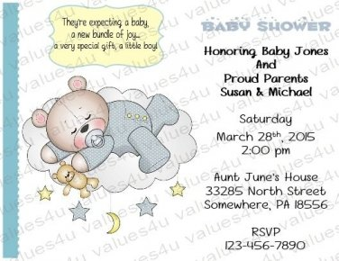Personalized Baby Shower Invitations (babyboy1229)