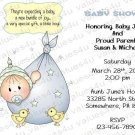 Personalized Baby Shower Invitations (babyboy1228)