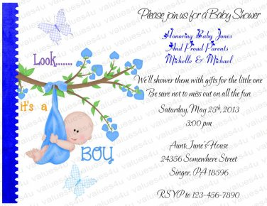 Personalized Baby Shower Invitations (babyboy1213)