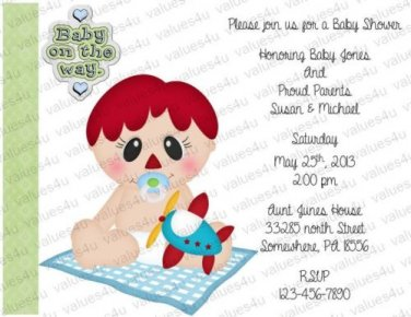 Personalized Baby Shower Invitations (babyboy1205)