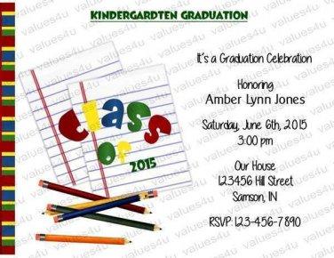 Personalized Preschool Graduation Invitations (preschoolgrad 003)