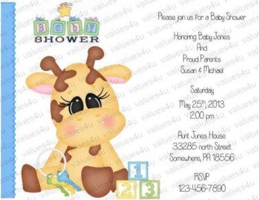 Personalized Baby Shower Invitations (babyboy1202)