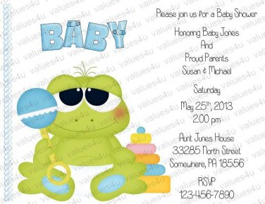 Personalized Baby Shower Invitations (babyboy1206)