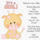 Baby Personalized Flat Baby Shower Invitation (babygirl2200)