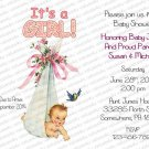Personalized Flat Baby Shower Invitation (babygirl2215)