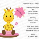 Baby Shower Flat Invitation (babygirl2243)