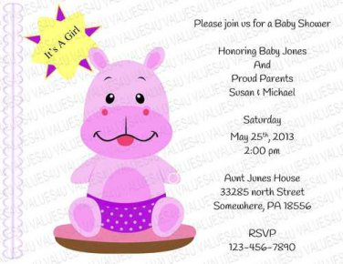 Personalized Baby Shower Invitations (babygirl2244)