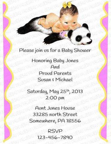 Personalized Baby Shower Invitation (babygirl2249)