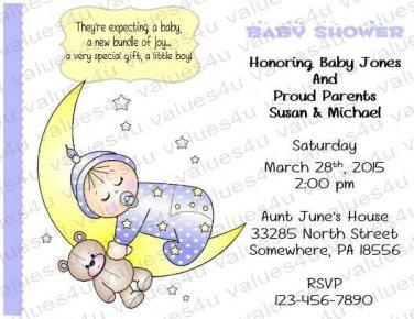 Personalized Baby Shower Invitation (babyboy1231)