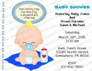 Personalized Baby Shower Invitation (babyboy1236)