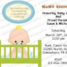 Personalized Baby Shower Invitation (babyboy1238)