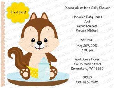 Personalized Baby Shower Invitation (babyboy1240)