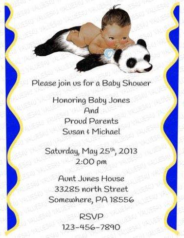 Personalized Baby Shower Invitation (babyboy1243)