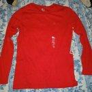 Juniors Womens JCP red long sleeve tshirt top shirt size XL NWT