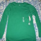 Juniors Womens JCP green long sleeve tshirt top shirt size XL NWT