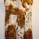 Womens New York & Co Multi-color brown floral dress size 8 NWT