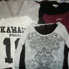 Lot of 5 juniors womens top tshirts shirts size M