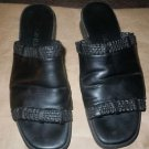 Women's Cole Hahn black leather slip on sandals size 6 1/2