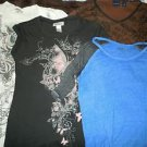 Lot of 4 juniors womens top shirts size M
