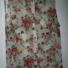 Womens Michel sheer floral blouse top size XXL 2X