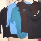 Lot of 5 Womens shirts tops sweaters size small #A
