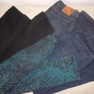 Womens Lot of 4 Mossimo size 6 jeans pants black green blue