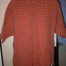 Men's George button front collared short sleeve shirt size 2X orange/green