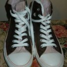 Converse All Star Chuck Taylor hi top canvas shoes size 7 men 9 women pink/brown