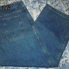 Mens DLUX blue denim jeans size 40x33