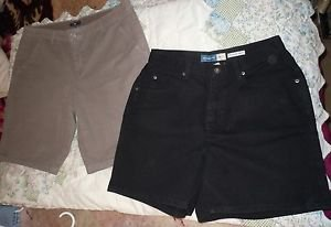 Lot of 2 pair womens shorts Gap brown Liz Claiborne black size 10