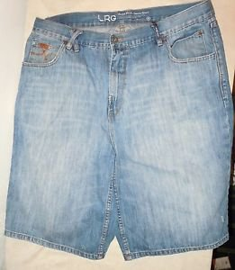 Mens LRG Lifted Research Group Grass Roots Denim Jean Shorts Size 38