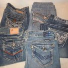 Lot of 5 Juniors Jeans Hydraulic Wallflower Mossimo Hint Bubble Gum Size 5/6