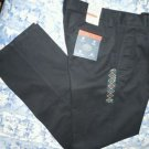 St John's Bay Worry Free Chino Classic Fit Black Mens Pants Size 32x34 NWT