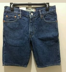 Mens 505 Levis Regular medium blue denim jean shorts size 30 NWT