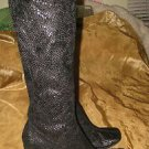 """Womens black boots Chinese Laundry """"Glamour"""" size 6 1/2 knee high pull on"""