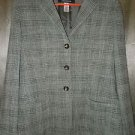 Jones New York Gray Green 3 button jacket size 8