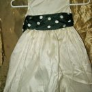 Girls Kiki formal ivory black party wedding special occasion dress  size 5/6