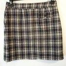 Womens i.e. relaxed wool blend black/white wrap mini skirt size 10