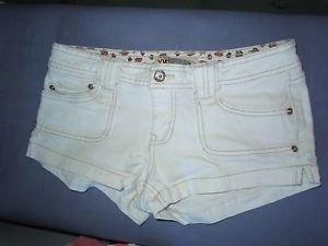 Womens Juniors YMI white short shorts size 7
