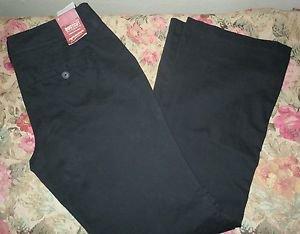 Womens Arizona Jeans Classic Boot Cut Black Flat Front Pants Size 13 NWT