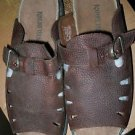 Nature Trek brown leather slip on sandals size 9