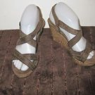 Womens Montego Bay Club brown cork sandals size 6