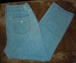 Womens Dockers capri jeans light wash size 4