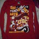 Juniors USC Trojans long sleeve maroon tshirt size L