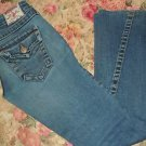 Womens Vintage Jrs True Religion #503 twisted flare leg blue denim jeans size 26