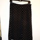 Evan Picone 100% silk black/white polka dot skirt size 8